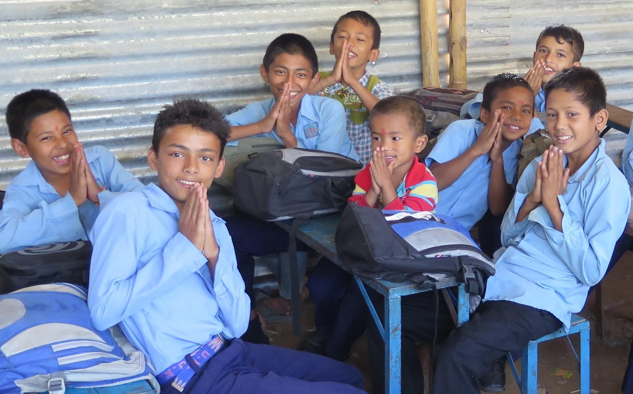 schoolboys in Chhoprak