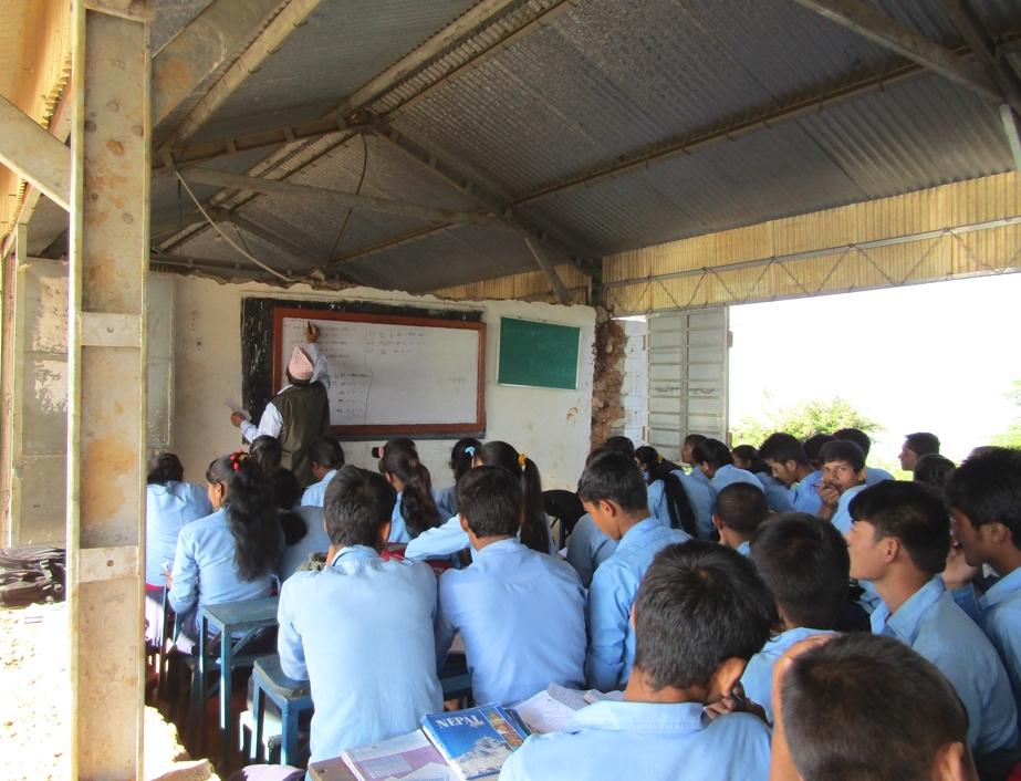 Kids in temp classroom_4_credit Joe Richards